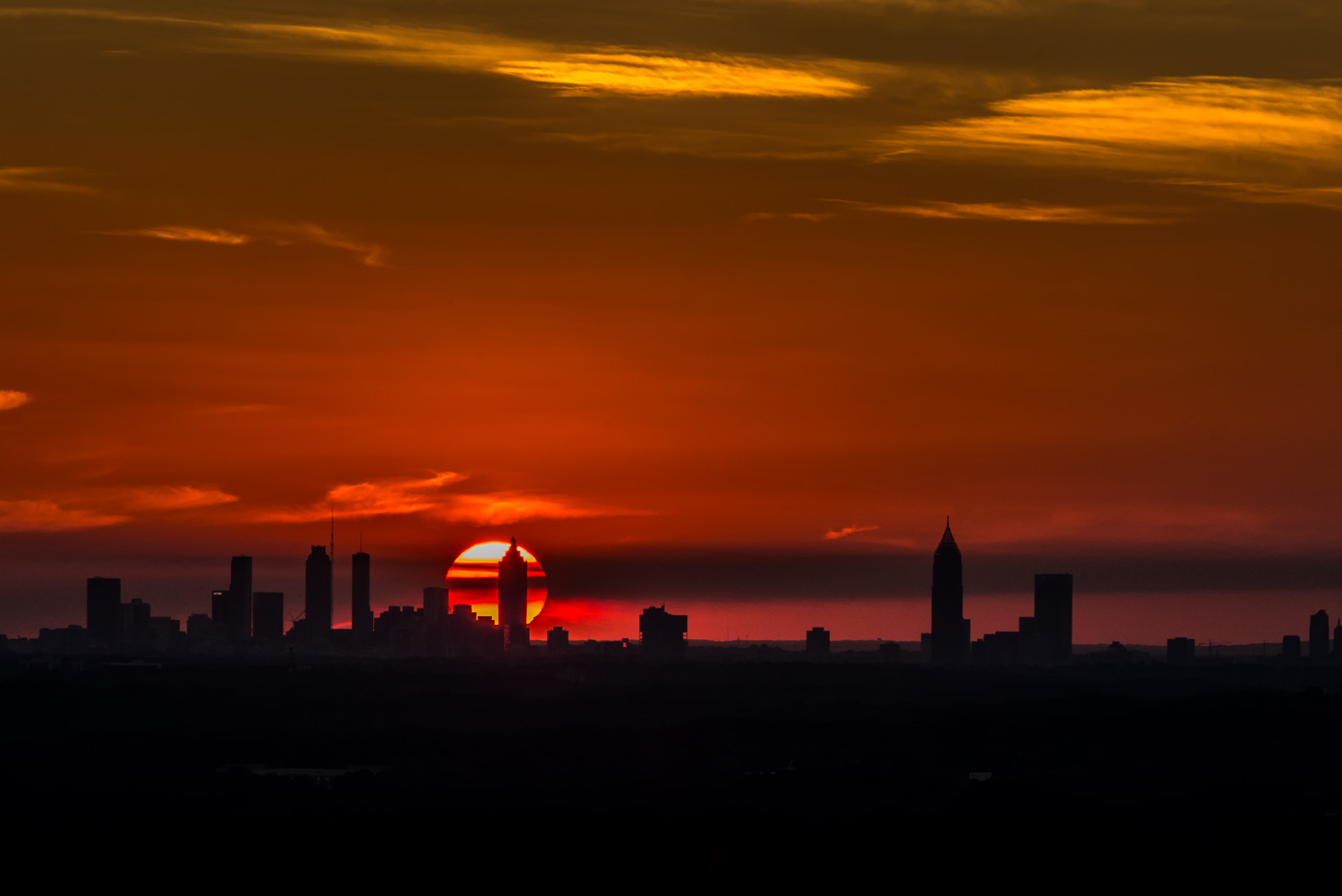 Sunset over Atlanta
