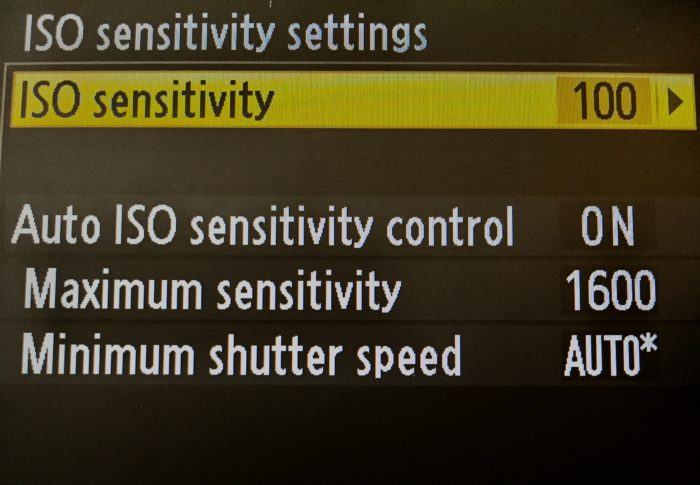 ISO settings